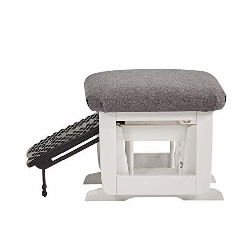 Tremendous Dutailier Modern Glider And Nurshing Ottoman Set White Gray Check Back Soon Gmtry Best Dining Table And Chair Ideas Images Gmtryco