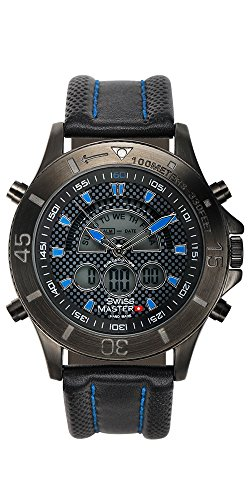 afd857973 Swiss Master Men's Ana-Digi Diver Watch: Black/Blue (62625391 ...