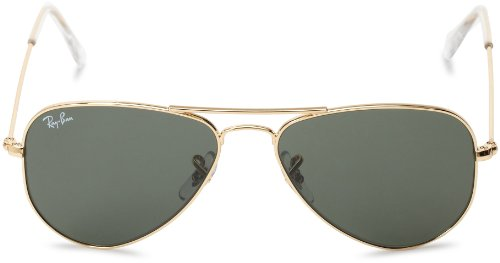 48287fca060 ... Ray-Ban Unisex Aviator Sunglasses - Gold Green - 52mm (0RB3044) ...