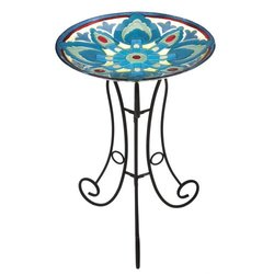 Glass Birdbath Set, Savio Shores
