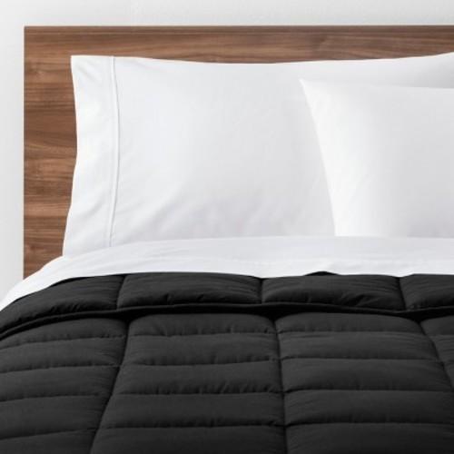 Black solid down alternative comforter king made by - Home design down alternative comforter ...