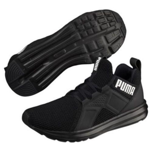 Puma Men's Enzo Weave Running Shoe - Black/White - Size: 8.5 ...