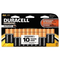 Duracell Coppertop Batteries 20 AA MN1500B20