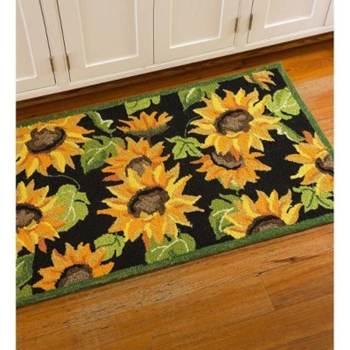 Plow Hearth Sunflower Indoor Outdoor Accent Rug Multi Size 24 X42 Check Back Soon Blinq