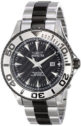 Invicta Men's Pro Diver Stainless Steel Analog Watch - Black/Silver (15171)