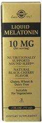 Solgar Liquid Melatonin Supplement Natural Black Cherry 2 ounce