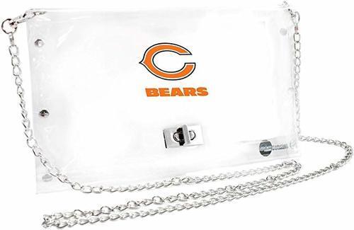 Little Earth Women's NFL Chicago Bears Envelope Purse - Clear photo