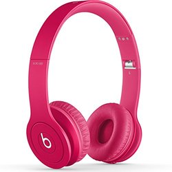 Beats by Dre Solo HD Drenched Headphones with Mic - Pink