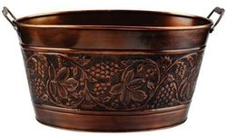 Old Dutch 18x10-1/2x9-1/2-Inch Embossed Heritage Party Tub - 5-1/2-Gallon