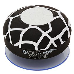 Aduro AQUA-Sound Pattern Shower Bluetooth Speaker: Black Giraffe