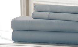 Fine Linens 600tc 100% Egyptian Cotton 4 Piece Sheet Set: Dusty Blue/K