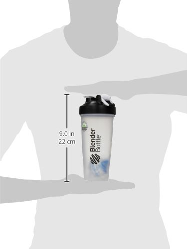 BlenderBottle Classic Loop Top Shaker Bottle - Clear Black - 28