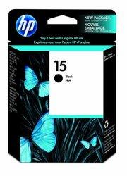 HP Original 15 Black Ink Cartridge (C6615DN)