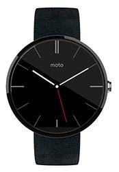 Motorola Moto 360 Black Leather Smart Watch - Black (00418NARTL)