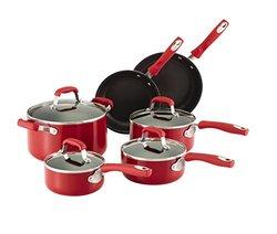 Guy Fieri 10 Pc Non Stick Cookware Set Red 5137407