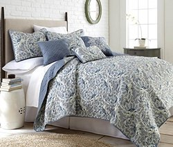 6 Piece Reversible Quilt Set: Bella/Queen