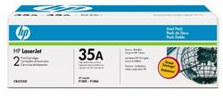 HP 35A Black Dual Pack LaserJet Toner Cartridges for P1005/P1006 CB435D