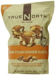 True North 100% Natural Clusters / Almond / Pecan / Cashews - 24 Ounce