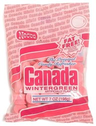 Necco Canada Wintergreen Pack of 12 - 7 Oz Pink Bags