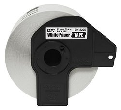 "Brother DK2205 Black/White Continuous Length Paper Tape - 2.4"" x 100'"