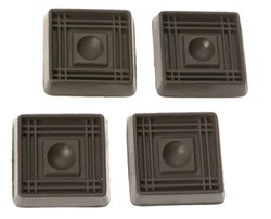 6 Pack Caster Cup Sq 2in Brown