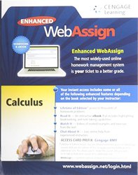 Cengage Learning Web Assign Printed Access Card for Calculus -2014