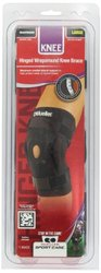 Mueller Hinged Wraparound Knee Brace - Black - Size: Large