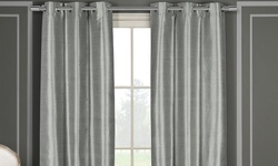 Duck River Faux Silk Double Layered Thermal Pair Panel - Gray