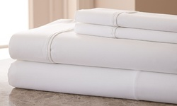 Hotel New York 800TC Cotton-Rich Sheets: White/Queen