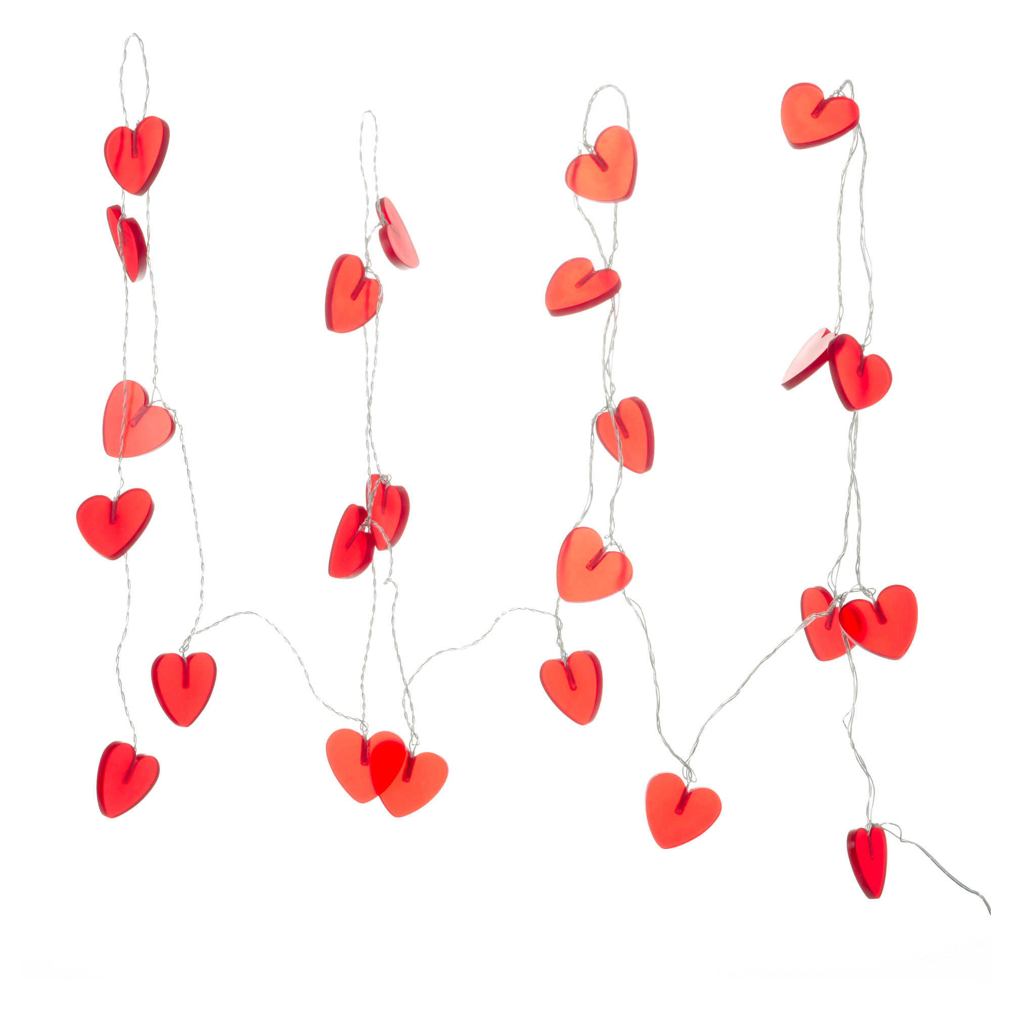 Ikea Ramsta 24 Large Red Heart Shaped String Lights