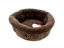 Boots & Barkley Small Polka Dot High Wall Pet Bed