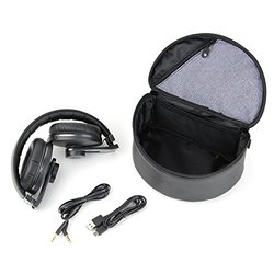 OMNI Premium Over-Ear Bluetooth Headphones with Mic and Carrying Case