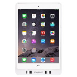 iPort 70305 White LaunchPort AM.2 Sleeve for iPad mini and iPad mini with Retina display, Built in wave-guide redirects iPad speaker audio back at you, Ergonomically designed, Contains embedded magnets for secure mounting to wall or any metallic surface,