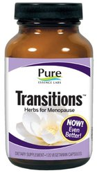 Pure Essence Labs Transitions Herbs for Menopause Nutritional Supplement, 120 Count