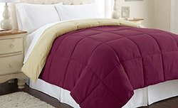 Down Alternative Reversible Comforter - Anemone-Wheat - Size: Queen