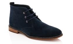 Franco Vanucci Men's Chukka Boot - Navy - Size: 12