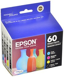 Genuine Epson 60 Ink Cartridges Combo Pack (T060120-BCS)