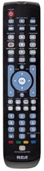 RCA 6 Device Universal Remote Blue Backlit Keypad Gloss Black RCRN06GR