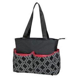 Baby Geometric Design Diaper Bags - Black/White