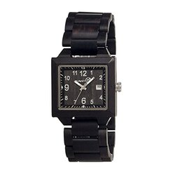 Earth Watches Non-Glare Scratch-Resistant Mineral Crystal Wood Watch
