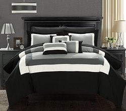 Duke Black King 10pc Comforter Set