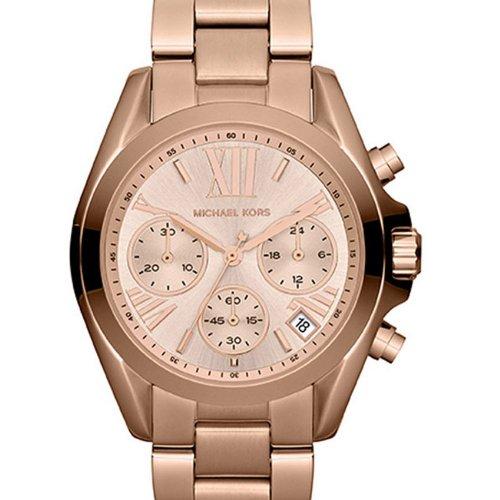 b59c538e9723 Michael Kors Women s Chronograph Mini Bradshaw Watch - Rose Gold - BLINQ