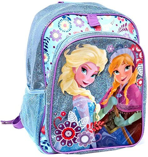 ae2a49eae77 Disney Store Frozen Elsa Anna Glitter Sparkle Backpack School Bag ...
