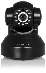 Foscam Indoor 720P HD Pan Tilt Wireless IP Camera - Black (FI9816PB)