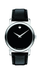 Movado Men's Museum - Black Band/Silver Dial