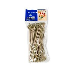 Royal Bamboo Knot Cocktail & Hors' D'oeuvre Picks - Set of 100 size 7 Inch