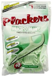 Plackers Dental Flossers Micro Mint - 90 CT