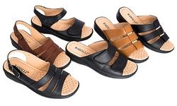 Rasolli Rosa Comfort Sandals: Rosa-6/Black/6.5