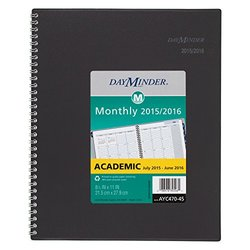 Monthly Planner Academic Year 12 Mo. July 2015-June 2016 8.5x11""
