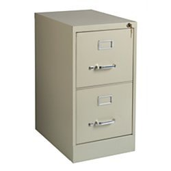 "Realspace R Steel Vertical File 2-Drawer - Putty - Size: 28.3"" x 15"" x 22"""
